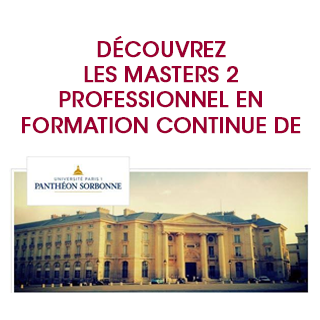 Les Formations professionnelles de l'Université Paris 1