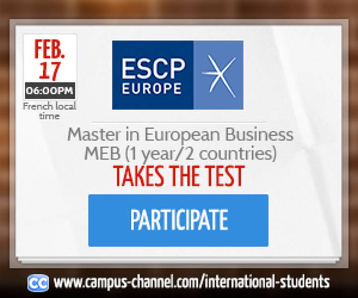 Master in European Business  Campus Channel - Live Chat session